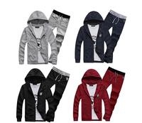 M-3XL 2014 Spring Sports Suit Clothing Set Men coat+pants 2pcs Sets Casual Sweatshirt Hoodies Set WR05