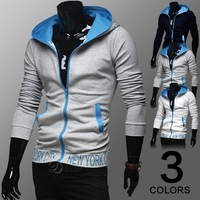 2014 Autumn Winter Men's Fashion Hooded Fleece Man Slim Fit Hoody