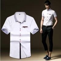2014 hot sale New Mens short Shirts Casual Slim Fit Stylish Mens Dress Shirts 55%off deals free shipping