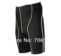 New women & Man Lycra sports Short pants black High elastic gym shorts Running shorts 5 minutes shorts cycling