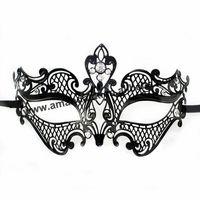Mask-067B Luxury Diamond Metal Mask Filigree Metal Mask Rhinestone Cut Fashion horror Mask Rhinestone Animal Pattern Design Mask