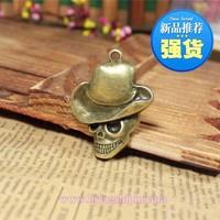 92 skeleton head  design diy necklace bracelet component 12pcs/lot 45*33MM pendants alloy  lucky Charms  Jewelry Findings