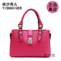 Genuine leather all-match fashion brief women's large capacity big fashion handbag