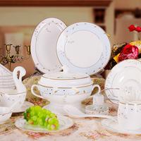 58 bone china dinnerware set quality lusterware plate dishes set western style