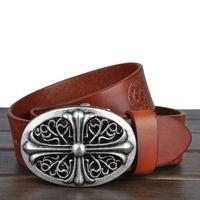 Brand high-end men's belt male head layer cowhide retro belt Korean fashion leisure all-match leather belt