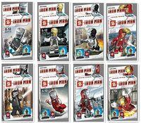 HOT classic toys !8pcs/Set The iron man series Mini Figures Blocks Toy Avengers Souptoys