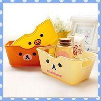 [Amy] free shipping 5pcs/lot Cartoon easily bear plastic box/Desktop receive a case high quality on Amy shop