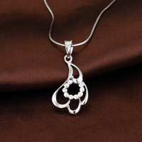 Free shipping! retail Stylish design 925 silver pendant for woman flower shape pendant DZ009