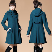 Autumn and winter coat women's ol medium-long slim woolen outerwear female thickening plus size overcoat