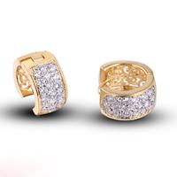Luxury Jewelry Womens 18K Gold Plated Earrings Rhinestone Crystal Earrings Free Drop Shipping