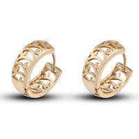 Elegant Womens/Girls 18K Gold Plated Hoop Earrings Ear Stud Fashion Jewelry Free Drop Shipping