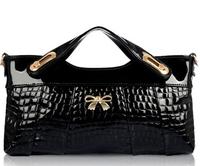 2015 Crocodile genuine leather women's handbags fashion women messenger bags day clutch small shoulder bags