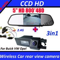 "For Buick Regal Grande VW Scirocco haydo Opel Vectra Astra Zafira Corsa car rear view backup camera HD and 5"" car mirror monitor"