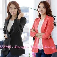M-3XL Brand Solid Single-Button Lapel Plus Size Blazer Women Long Sleeve Suit Coat Ladies Outerwear Autumn Winter Clothing 9521