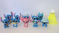 Free shipping lovely cartoon models Lilo & Stitch anime action figures Stitch figure 10 pcs a lot mini dog figurine