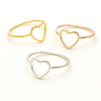 one-pcs 2014 new Fashion Engagement Jewelry Ring 18k Gold Plated Vintage Eternity Heart Rings For Women Free Shipping