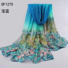 2014 scarf thin cotton silk scarf spring and autumn hot sell silk women's summer emulation silk patterns sunscreen cape DF1270(China (Mainland))
