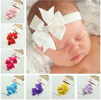 Wholesale Lot/8pcs Bowknot Rhinestone Baby Girls Newborn Bebe Kids Children Headbands Headwear Photography Props Accessories