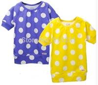carters 2-6 y girl polka dot tunic, girl long style summer tshirt  top playwear