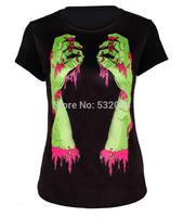 Fashion Blusas femininas Black 3D Digital Printed women t-shirt O-neck Primer Shirt Lady's Causel T Shirts Femal  Knit Top
