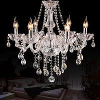 6 arms K9 crystal chandelier  European Candle Crystal Chandeliers  Bedroom Living Room Modern chandelier