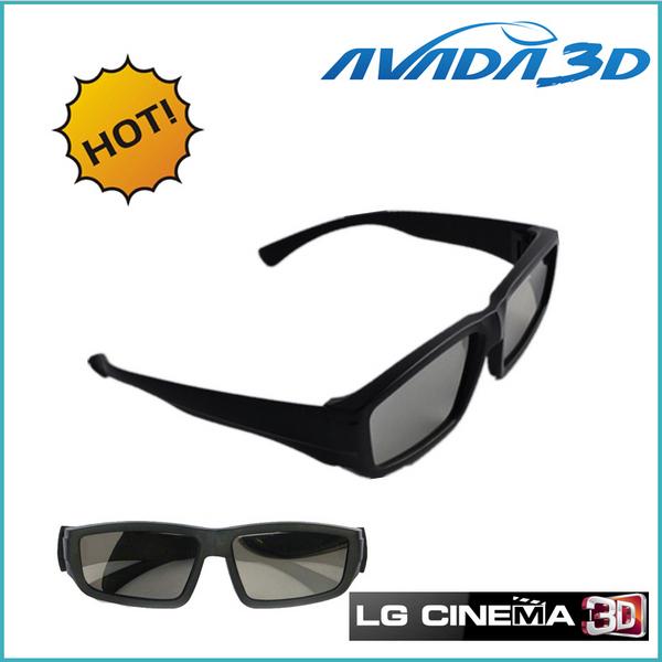 Free shipping wholesale 10pcs/Lot Circular Polarized 3D Glasses Passive 3D Eyewear for LG CINEMA 3D TV/RealD 3D Cinema(China (Mainland))