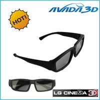 Free shipping wholesale 10pcs/Lot Circular Polarized 3D Glasses Passive 3D Eyewear for LG CINEMA 3D TV/RealD 3D Cinema