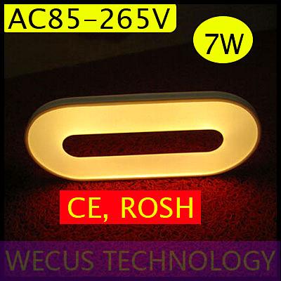 ( wecus) livraison gratuite, led double- face lumière, salon de fond lampe de mur, lampe d'escalier, 85-265v, commutateur de contact, réglable lumière