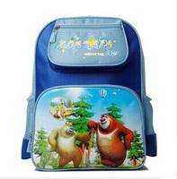 2014 New Cartoon Animal Prints Oxford Cloth Children School Bags Kids Backpack Mochila infantil B002