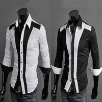 2014 New Dress Fashion Quality Long Sleeve Shirt Men Korean Slim Design,Formal Casual Male Dress Shirt Solid Stripe Man Blouse