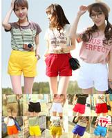 New 2014 fashion  candy color women shorts fashion ladies shorts hot short pants plus size cotton casual beach style