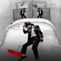 crazy Bedding set 4pcs 100%cotton for queen size 3D Michael Jackson printed duvet quilt cover bedclothes bedcovers bedlinens
