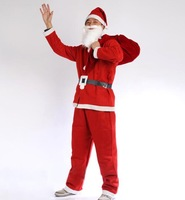Holiday Sale, Father Christmas Clothes, Santa Claus Five Sets Of Clothing (1Set/Lot) ,Free Shipping