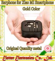 Gold XIAOMI 3 Piston Headphone Metal Earphone For XIAOMI MI3 Mi2s 2 Hongmi Red rice Note free shipping
