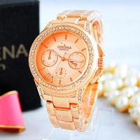 Fashion Brand Women Stainless Steel white and gold Wristwatches Waterproof Women Designer Watches Luxury diamond Rose Gold Clock