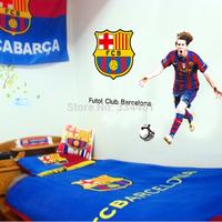 DF9905 Barcelona's Lionel Messi Superstar Football Wall Sticker For Boys Bedroom Decor