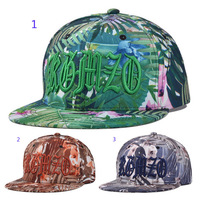 Men Hats Tree Leaf Printed Baseball Cap Hip-Hop Hat Women Fashion Hat Around Caps Free Shipping 5 PCS