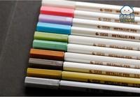 100pcs/lot stationery diy photo album black card paint pen STA metallic color pen marker pen mix color Wholesale & Retial