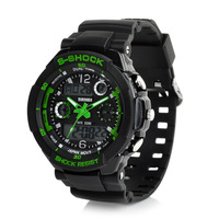 Fashion LED Digital and Quartz Analog Multi Functional Water Resistant Sport Wrist Watch