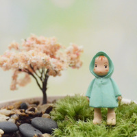 Hayao Miyazaki Totoro doll series raincoat Xiaomei succulents micro moss landscape ecology bottle DIY resin ornaments