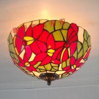 American modern big safflower ceiling glass Tiffany retro fashion kitchen Ouyang north station lighting lamps