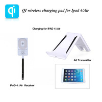 Latest Portable 3 Coils Wireless Charger Sets Wireless Charging mat + Wireless Charger Receiver for 9.7inch iPad 4/Ipad Air