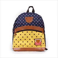 Children's Lovely Schoolbag Preschool and KinderGarten Children Canvas Double Shoulder Cartoon Kid Bag