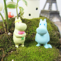 Cartoon hippo doll lovers succulent small ornaments moss landscape ecology bottle DIY accessories