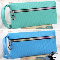 2014 New hot wholesale PU leather metal zip long women wallets Coin Purse fashion women handbag Free shipping