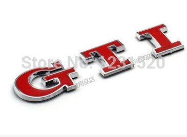 For VW rabbit GTI red motorsport Emblem Side Badge Sticker Decal(China (Mainland))