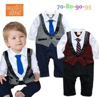 Male baby gentleman tie style leotard baby Romper c120