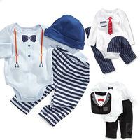 Models fall cotton gentleman Romper baby romper set long sleeve c342