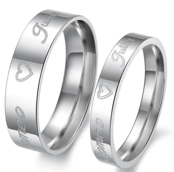 Romantic Alentine s day gift Noble o Ring o elegant luxury silver love heart titanium steel