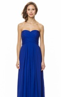 sTRAPLESS Long Blue A-line Bridesmaid Dresses Party Dresses In Stock All Sizes